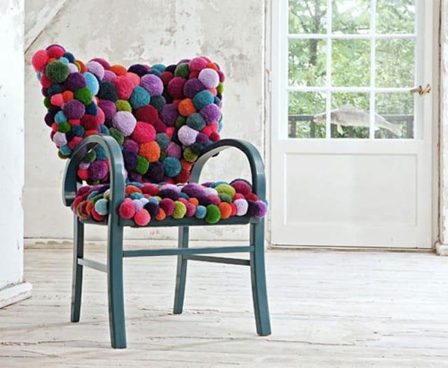 Comfy pom pom chair
