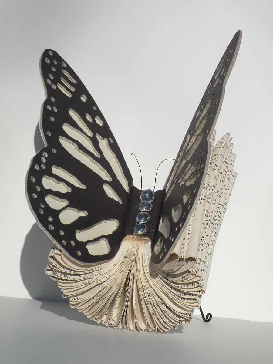 DIY Butterfly book sculpture