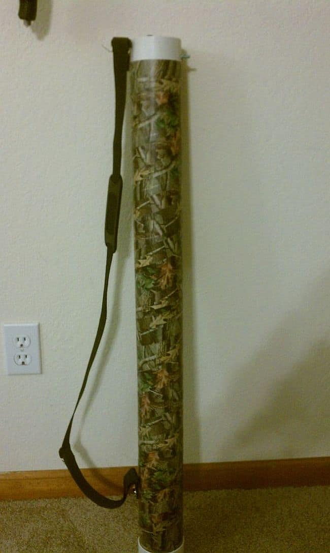DIY Fishing rod carrying tube