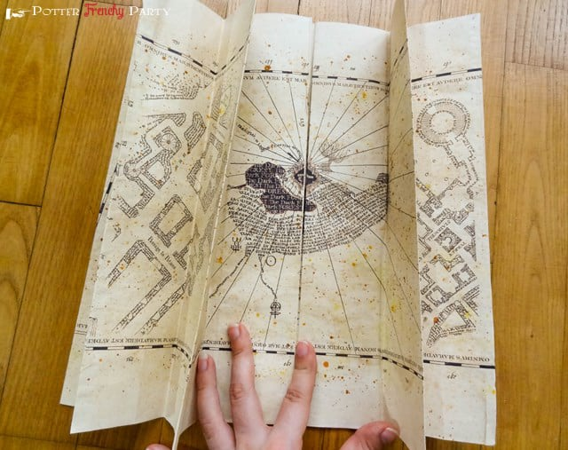 15 awesome harry potter themed crafts and diy projects view in gallery diy maurauders map solutioingenieria Image collections