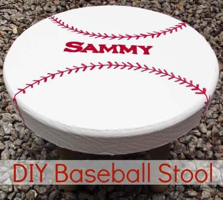 DIY baseball stool