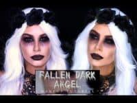Fallen Dark Angel 200x150 12 Incredible DIY Halloween Make Up Ideas