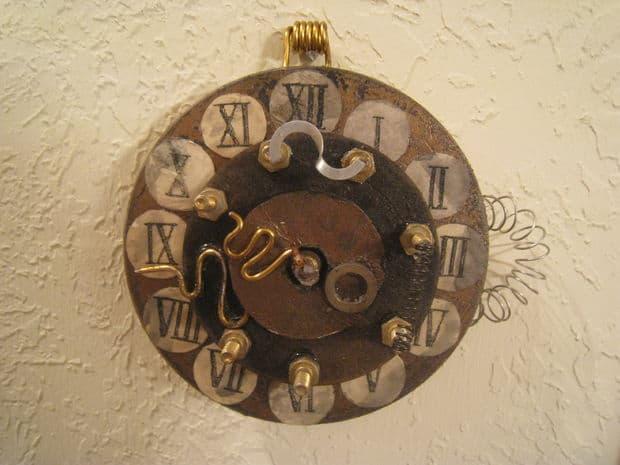 Funky steampunk wall clock