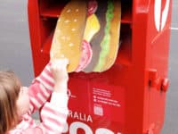 Giant hamburger postcard 200x150 Old School: Fun Ways to Customize a Pen Pal Letter