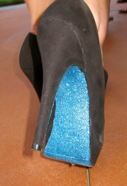 Glittery Blue Heels