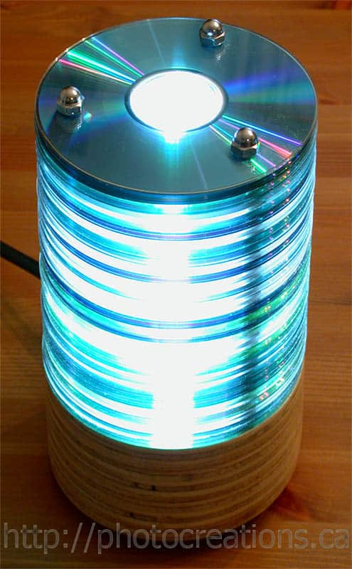 Glowing CD lamp