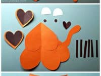 Heart cut out tiger craft 200x150 15 Cute Tiger Themed Crafts