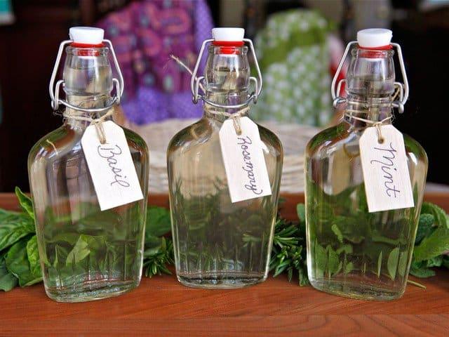 Herb infused simple syrup