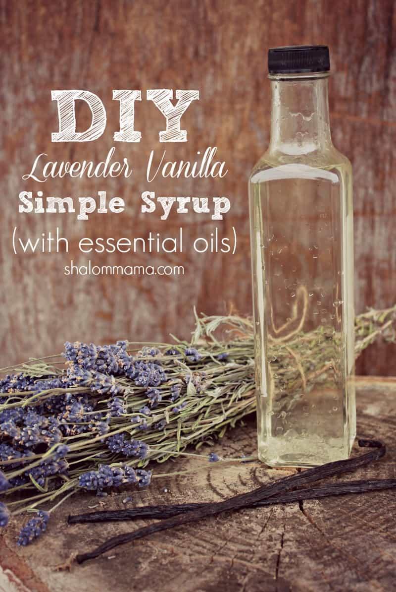 Lavender vanilla simple syrup