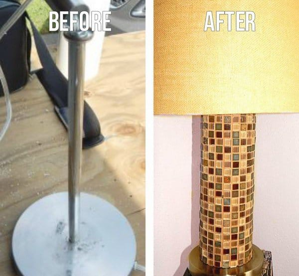 Mini tiled lamp stand