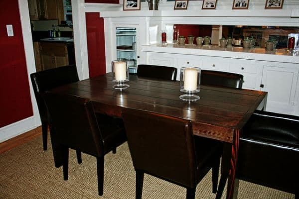 Pieced slat table