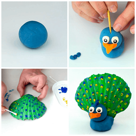 play-dough-seashell-peacock