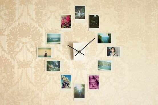 polaroid-wall-clock