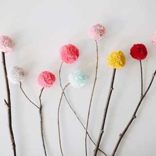 Super Fun Crafts Made with Pom Poms