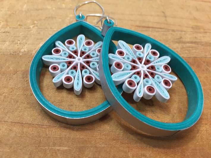 Quilled snowflake ornaments