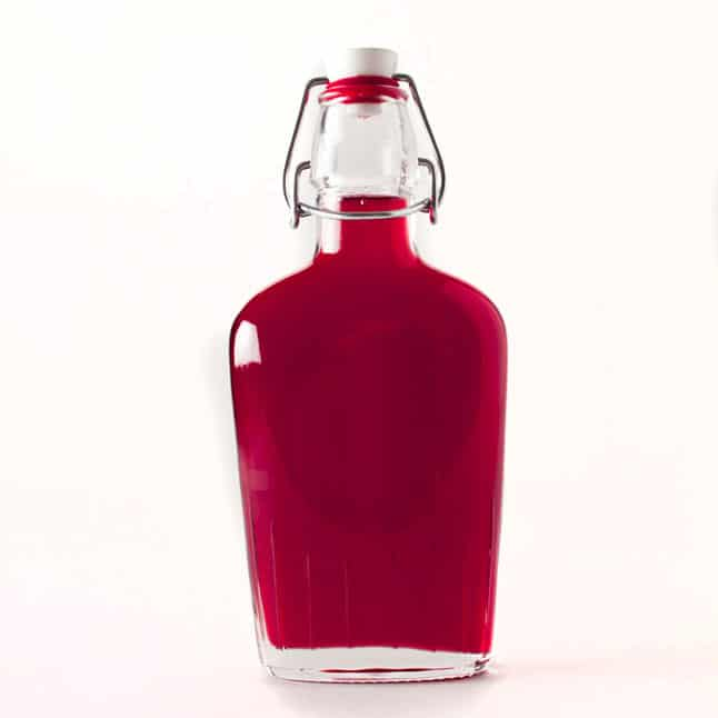 Raspberry strawberry infused syrup