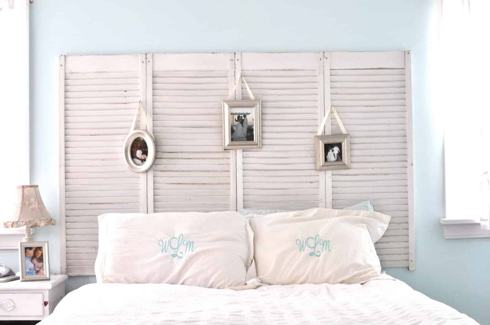 repurposed-shutters-headboard