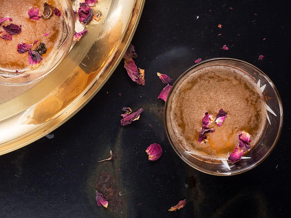 Rose and rye simple syrup