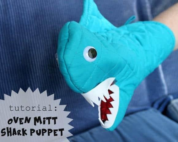 Shark shaped oven mitt