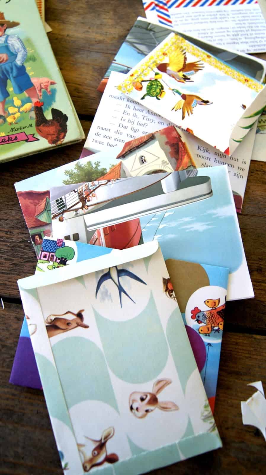 story-book-page-envelopes