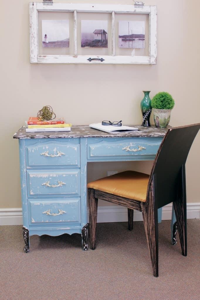 Stylishly weathered desk