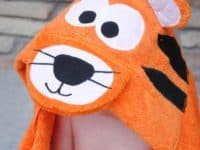 Tiger hooded towel 200x150 15 Cute Tiger Themed Crafts
