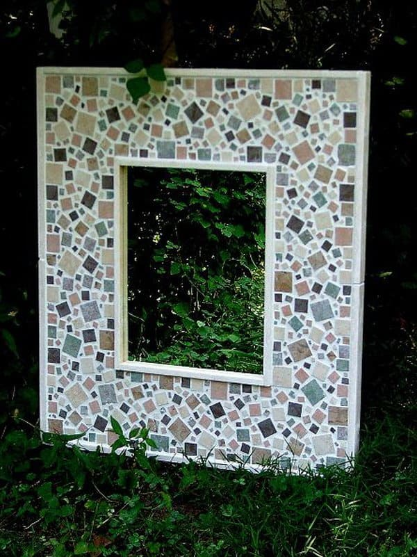 Diy projects involving tiles view in gallery tile mosaic garden mirrors solutioingenieria Gallery