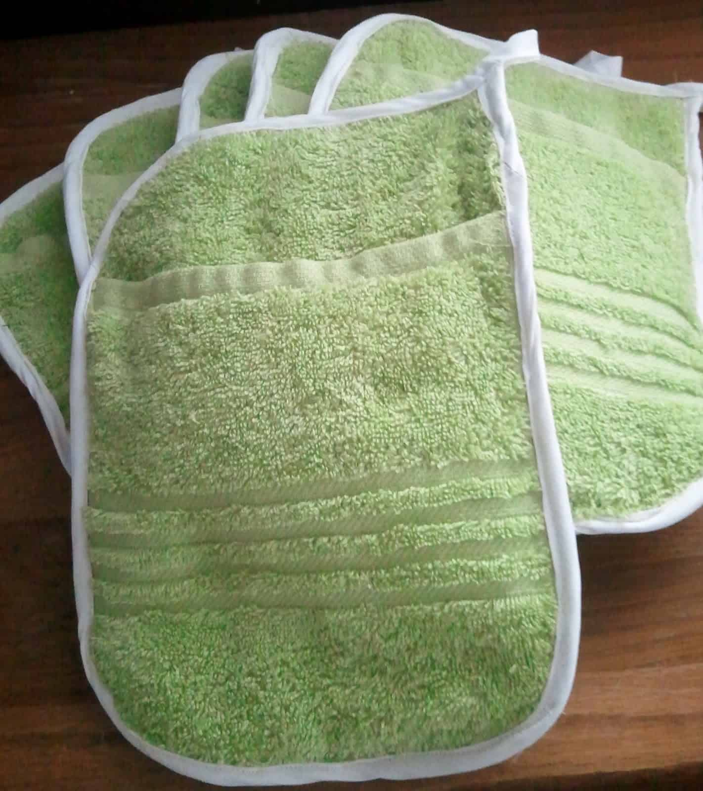 Upcycled tea towel hot pads