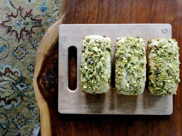 Vegan pistachio bread