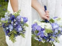 blue bouquet 200x150 Something Blue: 10 DIY Blue Ideas For Your Wedding Day
