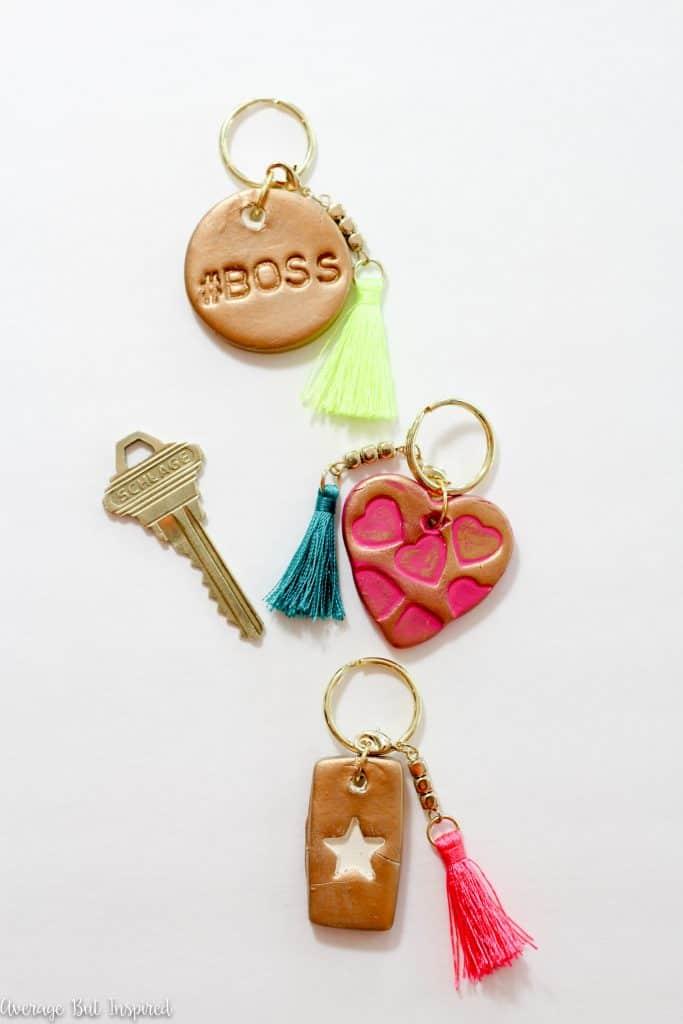 Air-Dry clay keychains