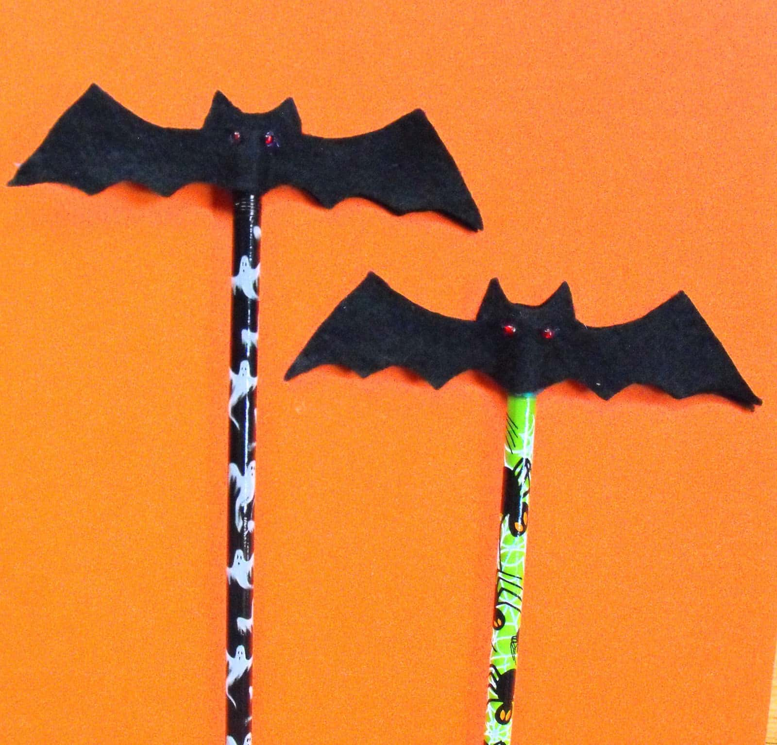 Black felt pencil toppers