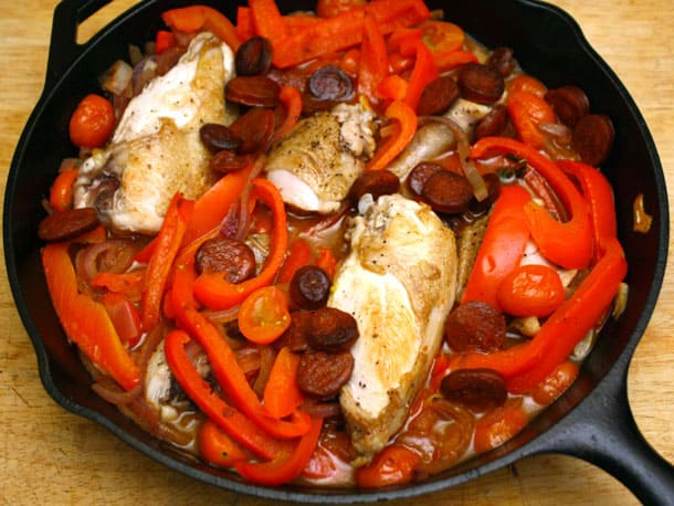 Braised Basque Chicken with Tomatoes and Paprika