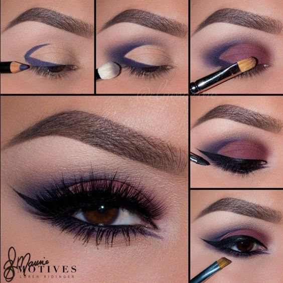 Burgundy smoky eyes