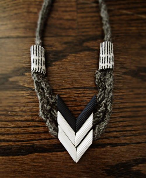 Chevron pasta necklace