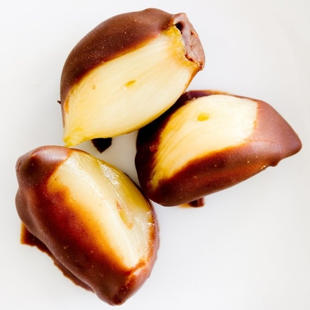Chocolate covered roasted garlic