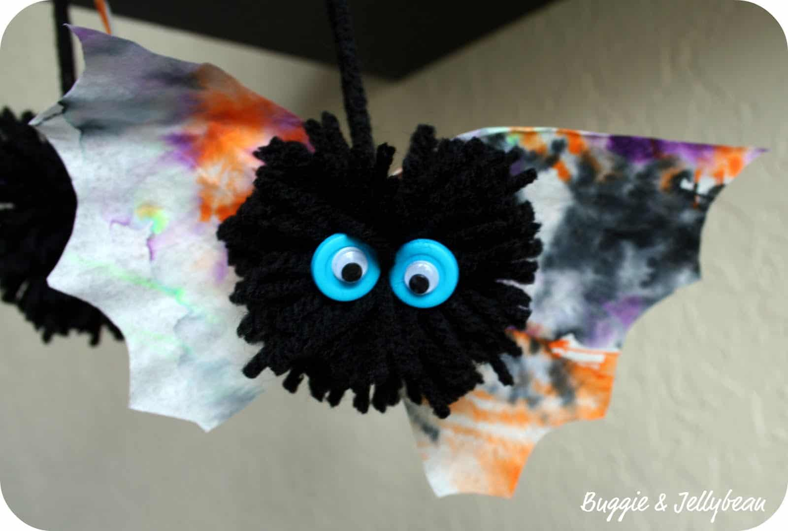 Coffee filter and pom pom bat