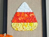 DIY Candy Corn Button Art 200x150 Decorate Your Home for Fall with These DIY Ideas