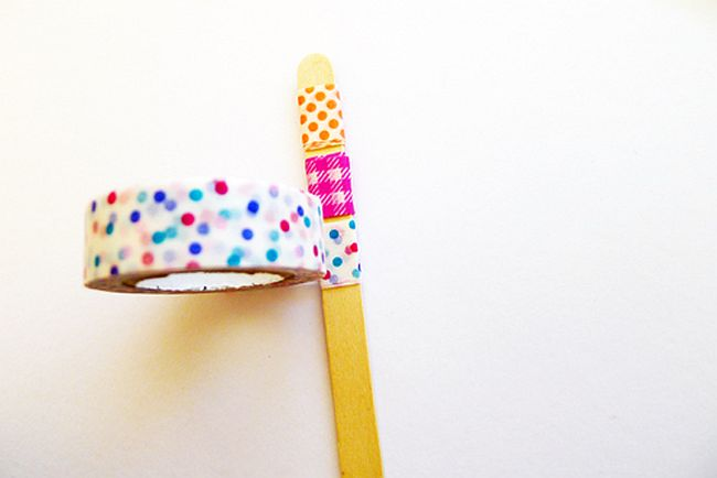 DIY Washi tape memento sticks