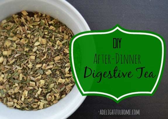 DIY after-dinner digestive tea