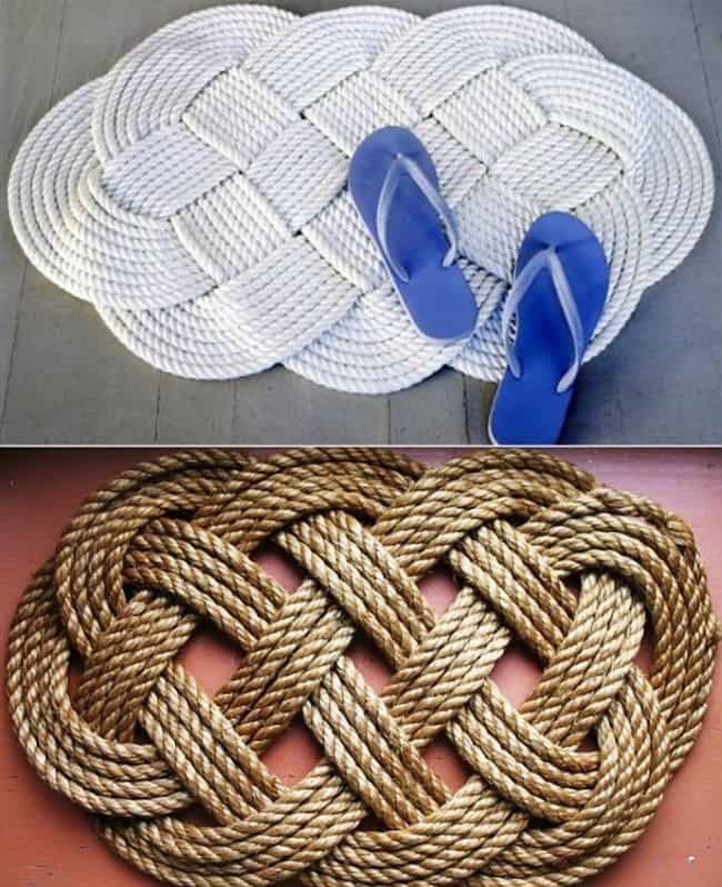 DIY braided rope mat
