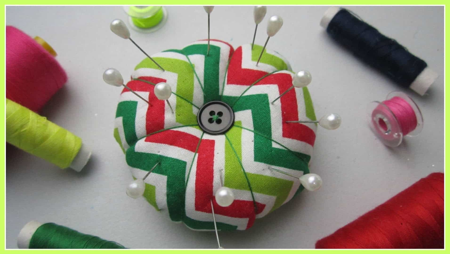 DIY button pin cushion