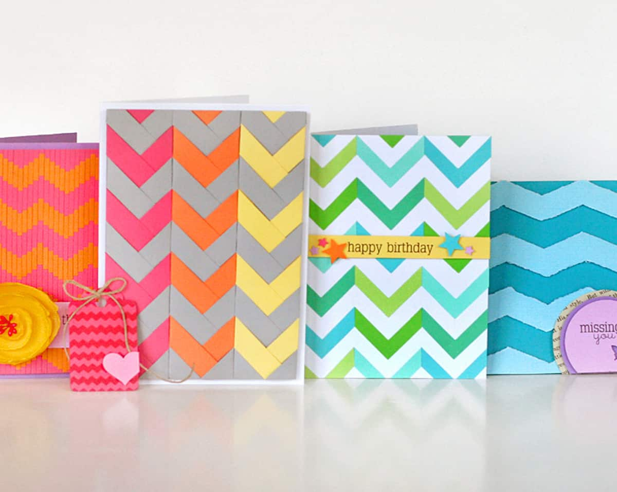 DIY chevron cards