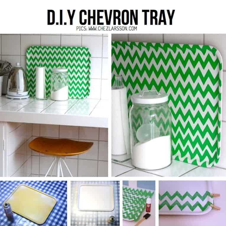 DIY chevron tray
