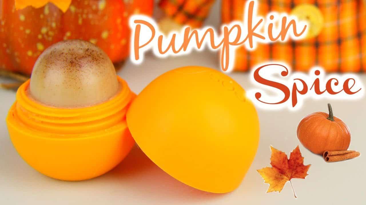 DIY pumpkin spice lip balm