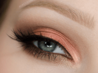 Early fall peach eyes 200x150 DIY Makeup Ideas for Fall