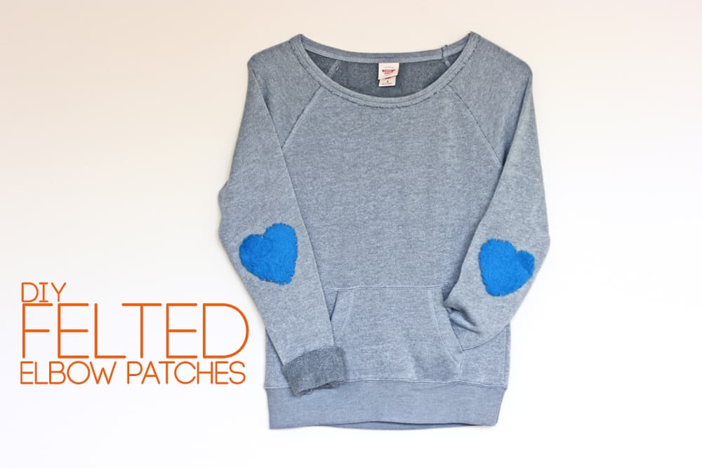 Felted Heart Elbow Patches