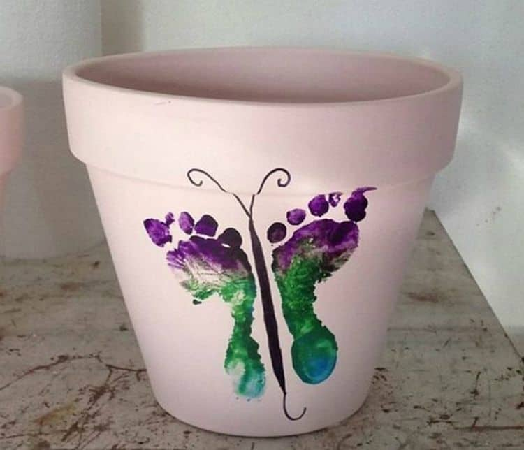 Footprint flower Pot