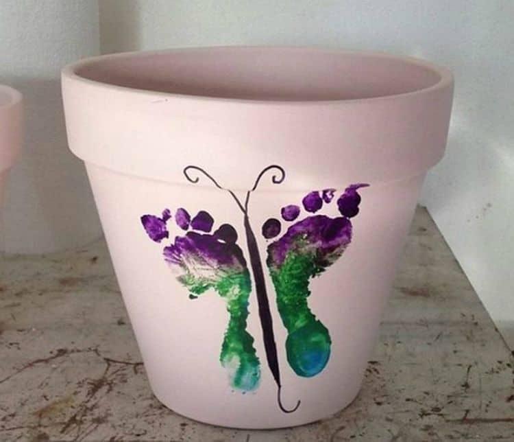 Footprint flower Pot