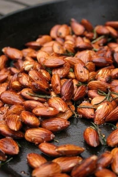 Garlic, rosemary, and chili almonds